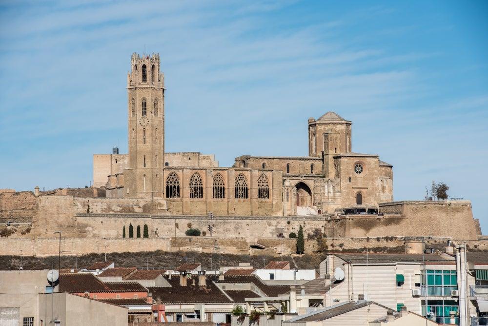 Castillo y catedral de Lleida