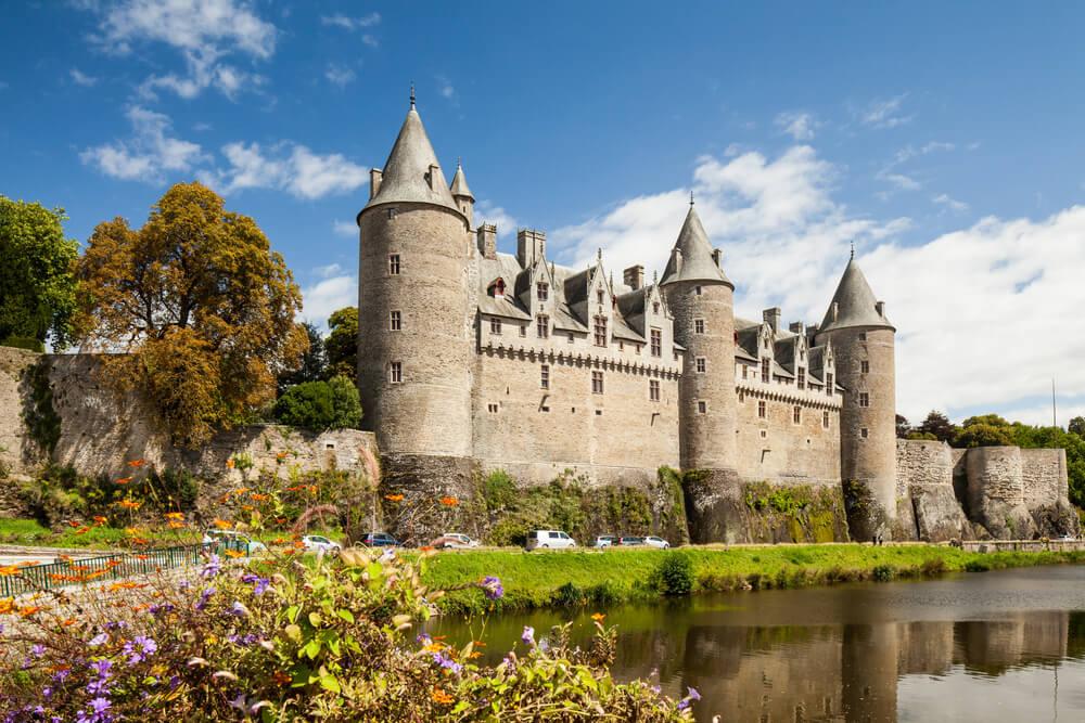 Castillo de Josselin en la Bretaña francesa