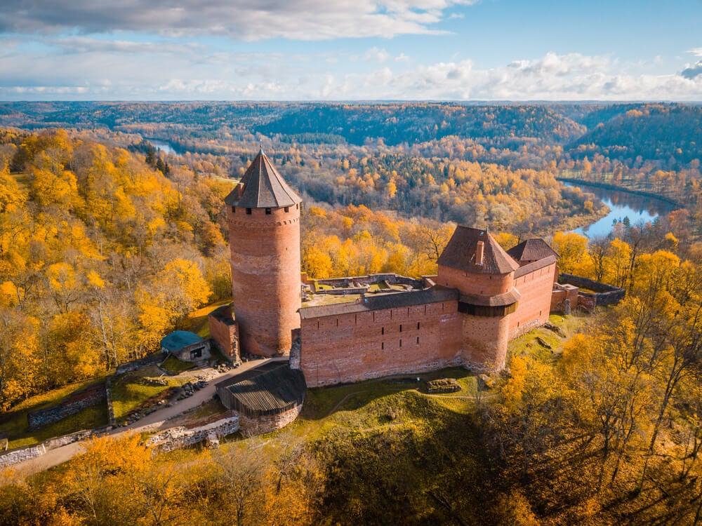 Castillo de Sigulda en Letonia