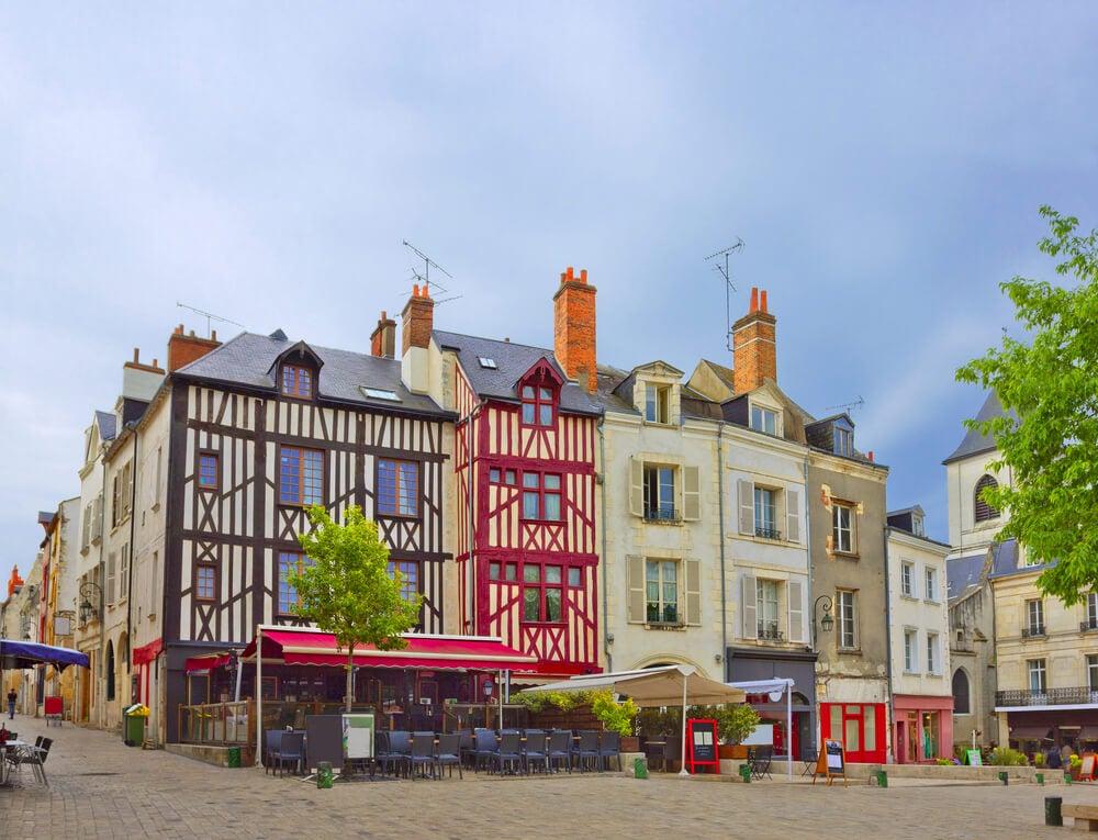 Centro histórico de Orleans en Francia