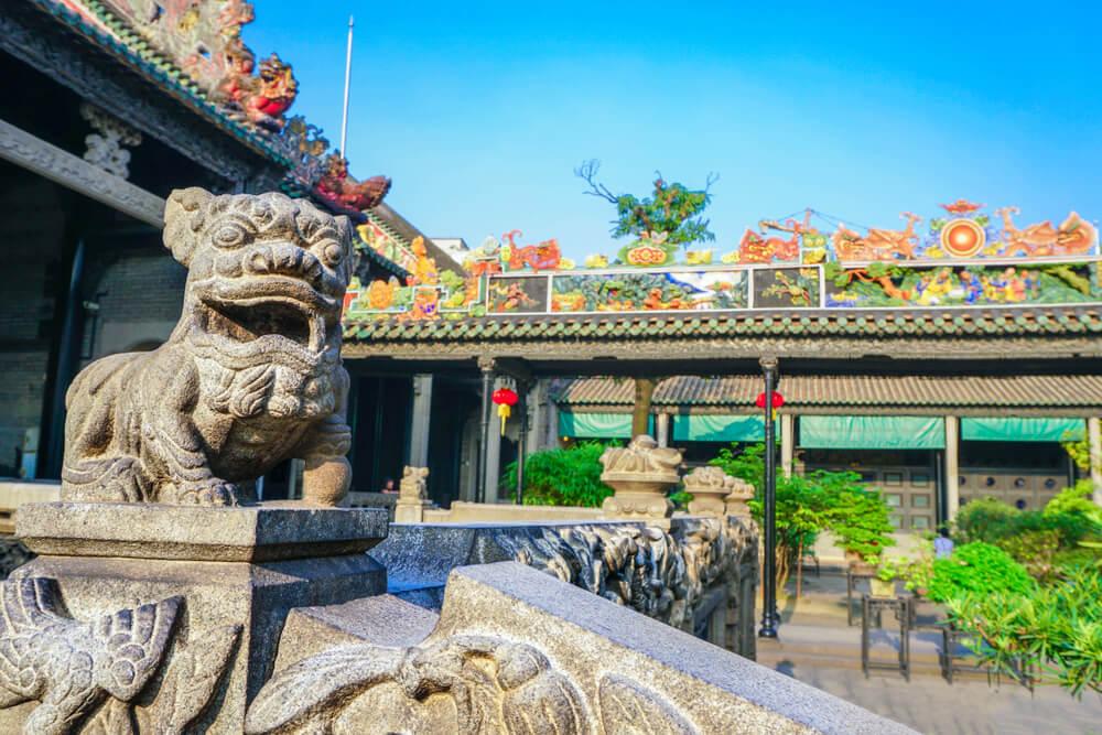 Decoración en Chen Clan Academy de Guangzhou