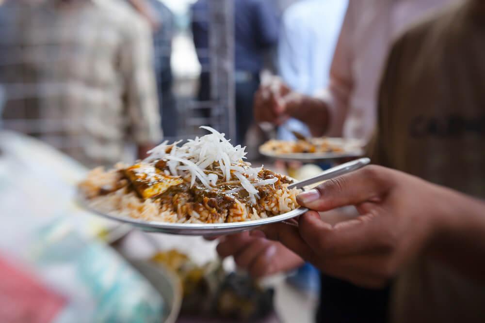 Comida callejera en la India