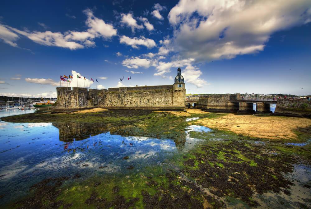 Ciudadela de Concarneau en la Bretaña francesa