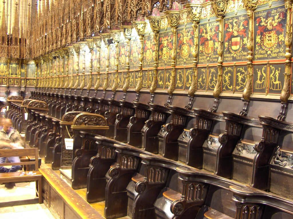 Coro de la catedral gótica de Barcelona