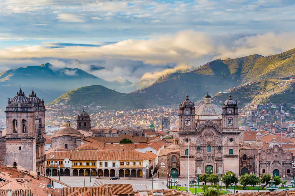 Centro histórico de Cuzco en Perú