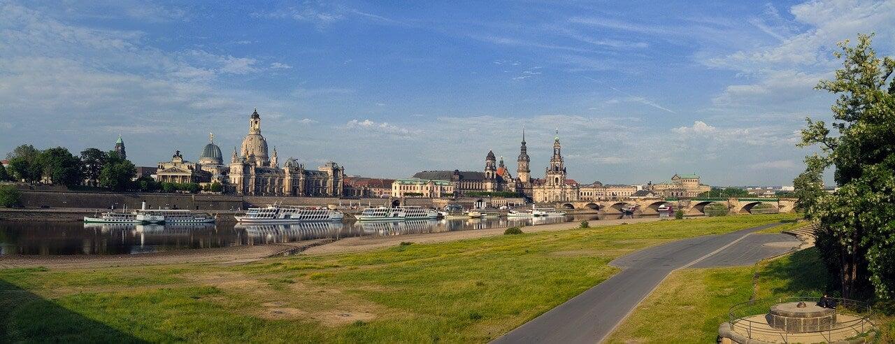 Vista de Dresde al este de Alemania