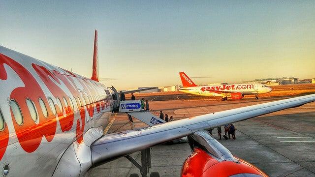 Aviones de EasyJet, una de las aerolíneas low cost