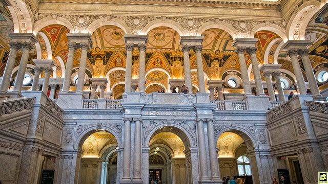 Entrada a la Biblioteca del Congreso de Washington