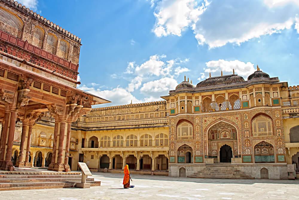Fuerte Amber en Jaipur en la India