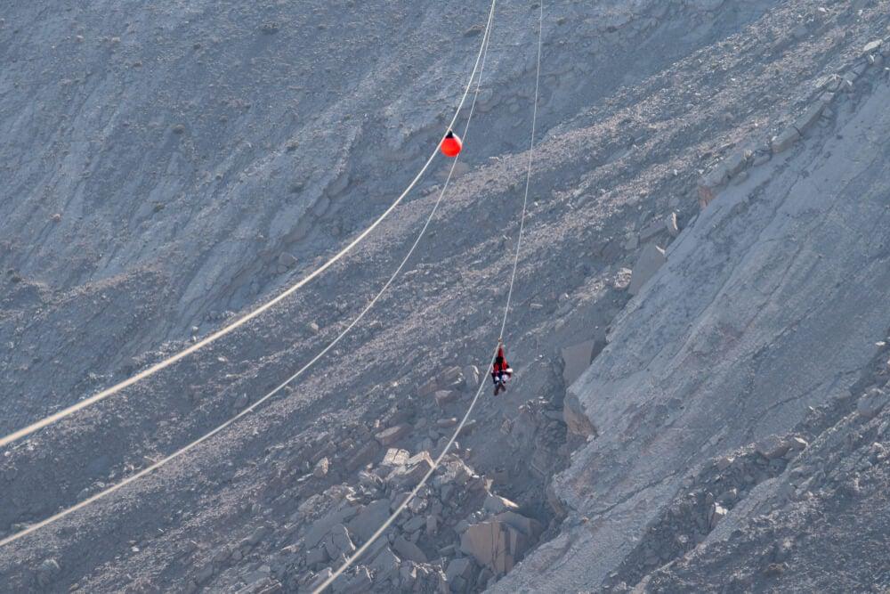 Jebel Jais Flight la tirolina más larga del mundo