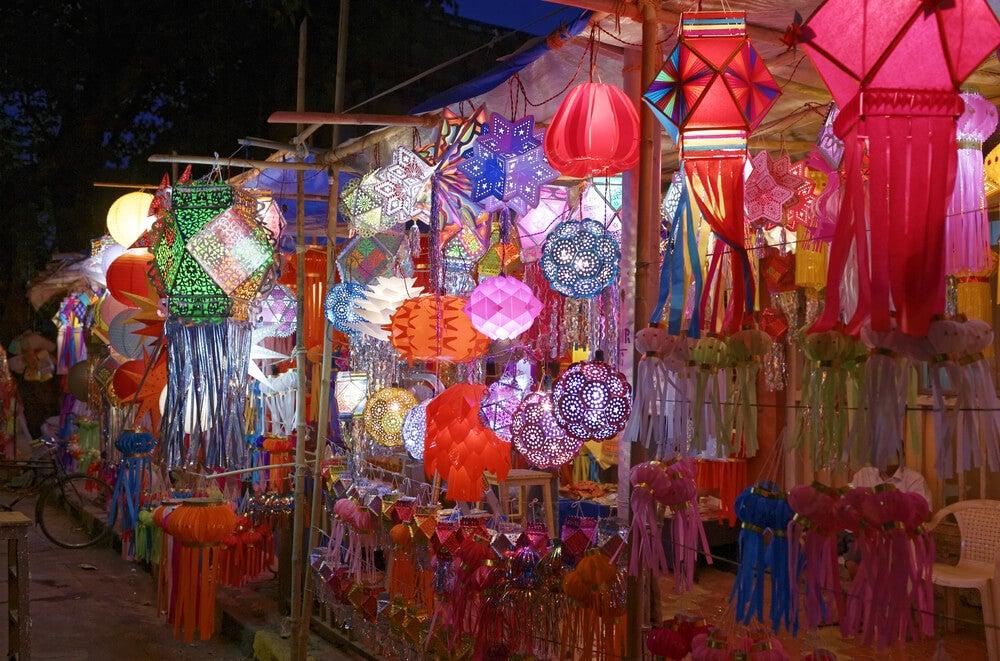 Linternas de Diwali