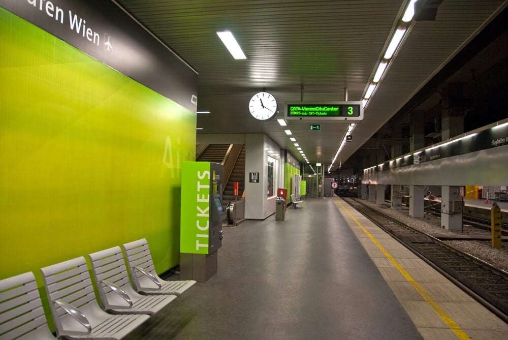 Estación de metro, medio para moverte por Viena