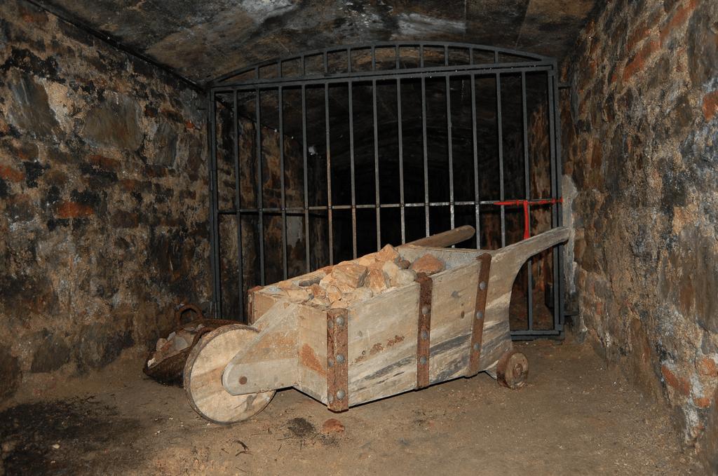 Interior de la mina de Almadén en Ciudad Real