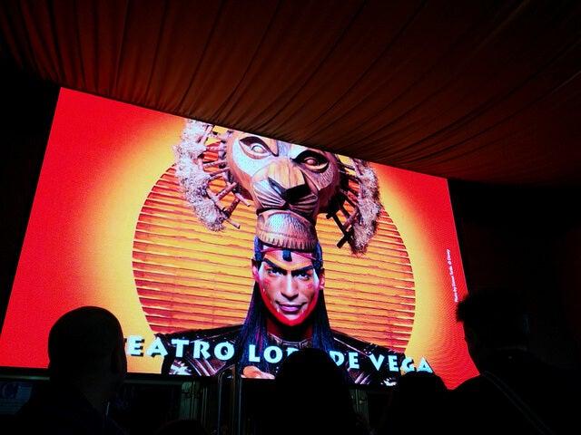 """Cartel de """"El Rey León"""""""