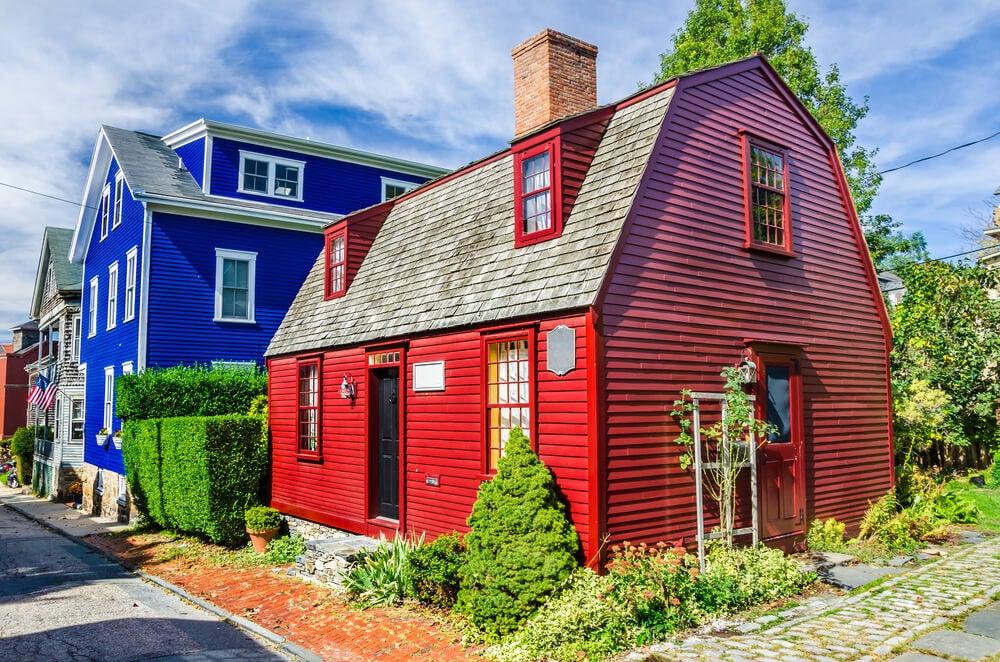 Casas de madera en Newport Nueva inglaterra