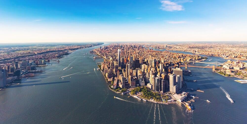 Vista aérea de Nueva York