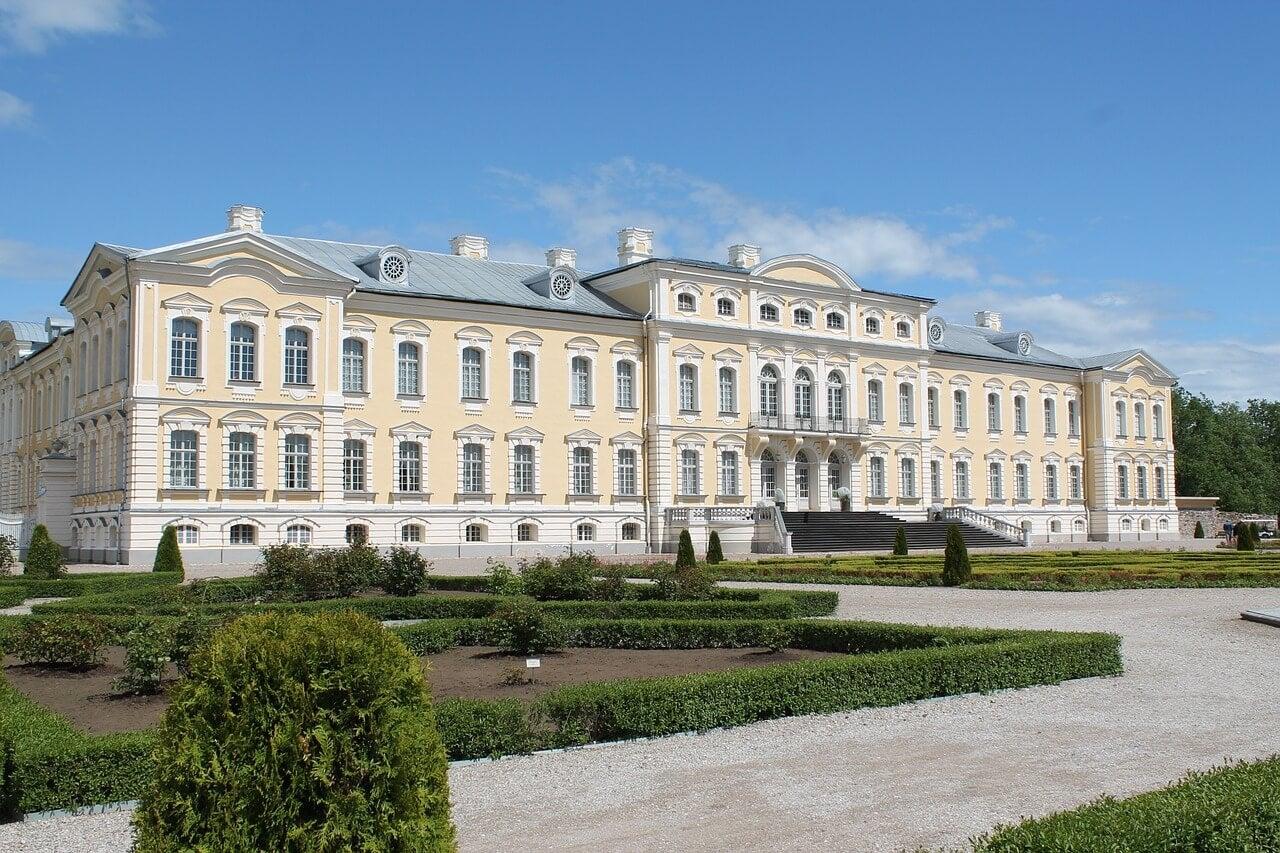 Palacio de Rundale en Letonia