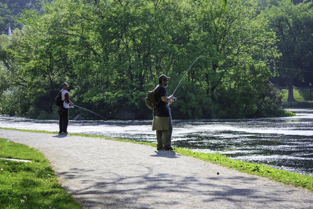 Pescadores en Central Park