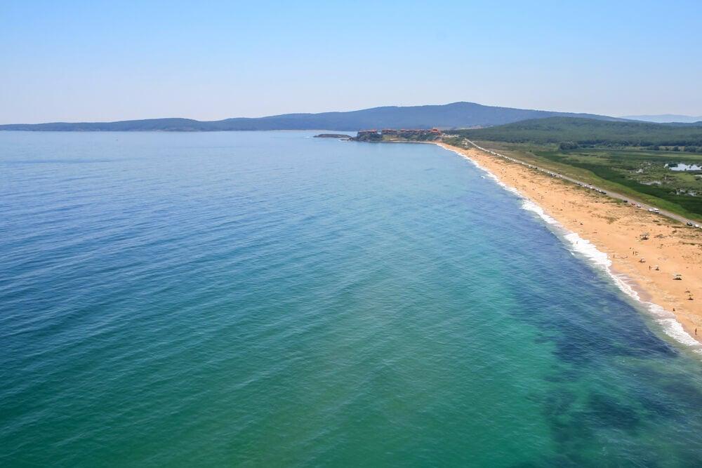 Playa en Burgas en Bulgaria