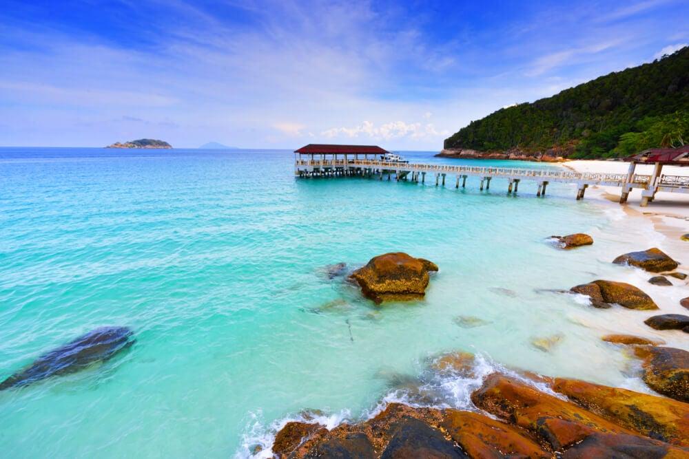 Playa de isla Redang