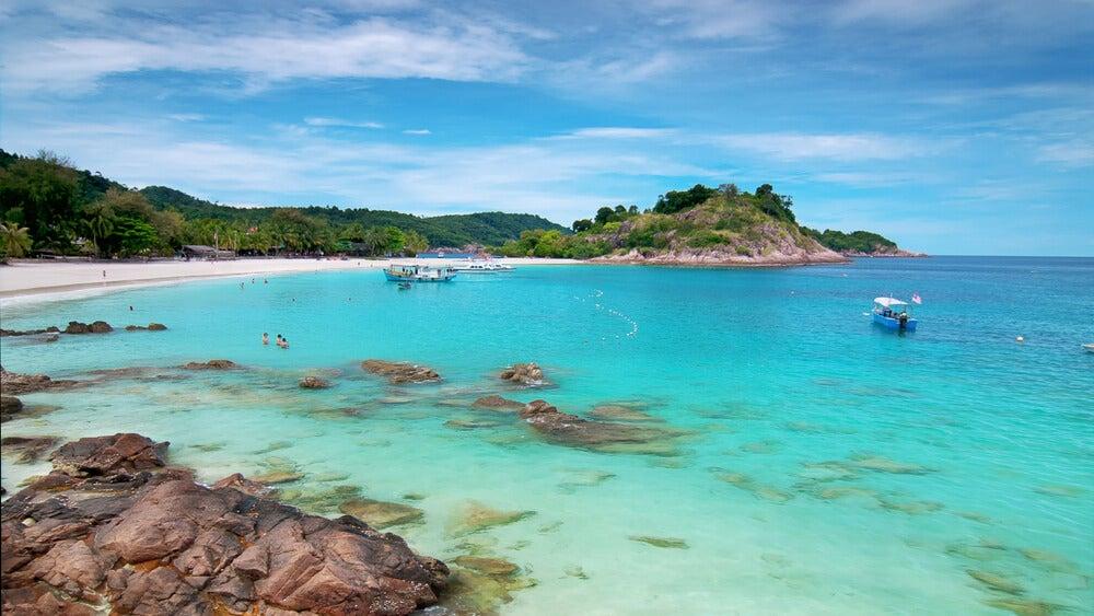 Playa en isla Redang