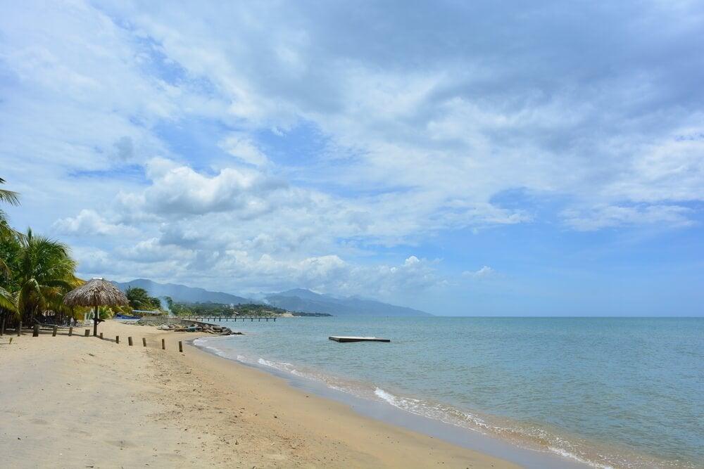 Playa de Trujillo en Honduras