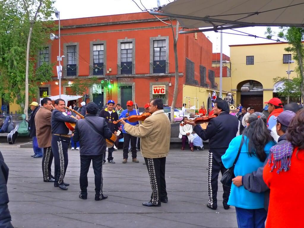 Mariachis en la plaza Garibaldi de Ciudad de México