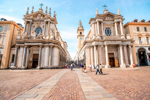 Plaza deSan Carlo, uno de los lugares que ver en Turín