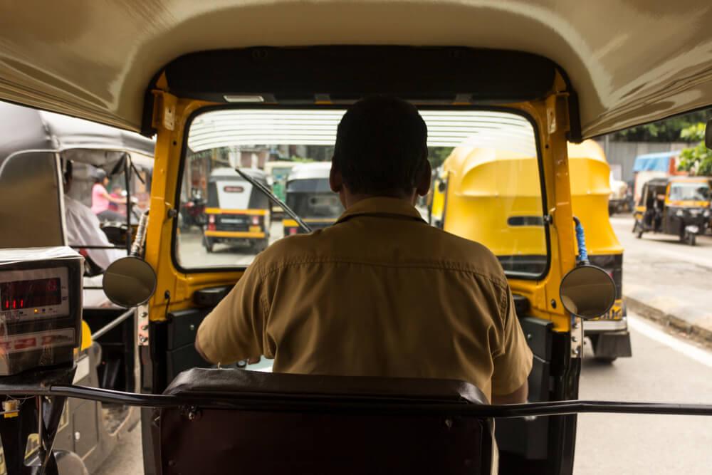 Rickshaw en Bombay