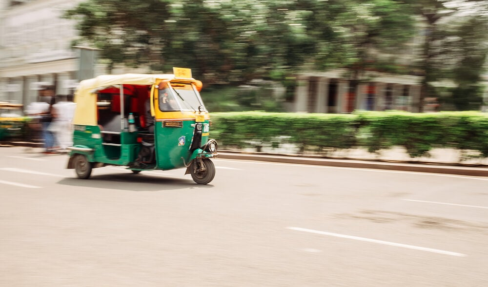 Rickshaw en Nueva Delhi