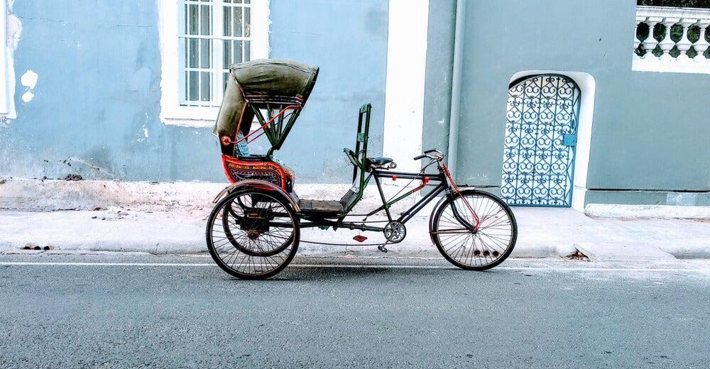 ¿Cómo es viajar en un rickshaw en India?