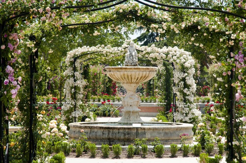 La Rosaleda en el Parque del Retiro de Madrid