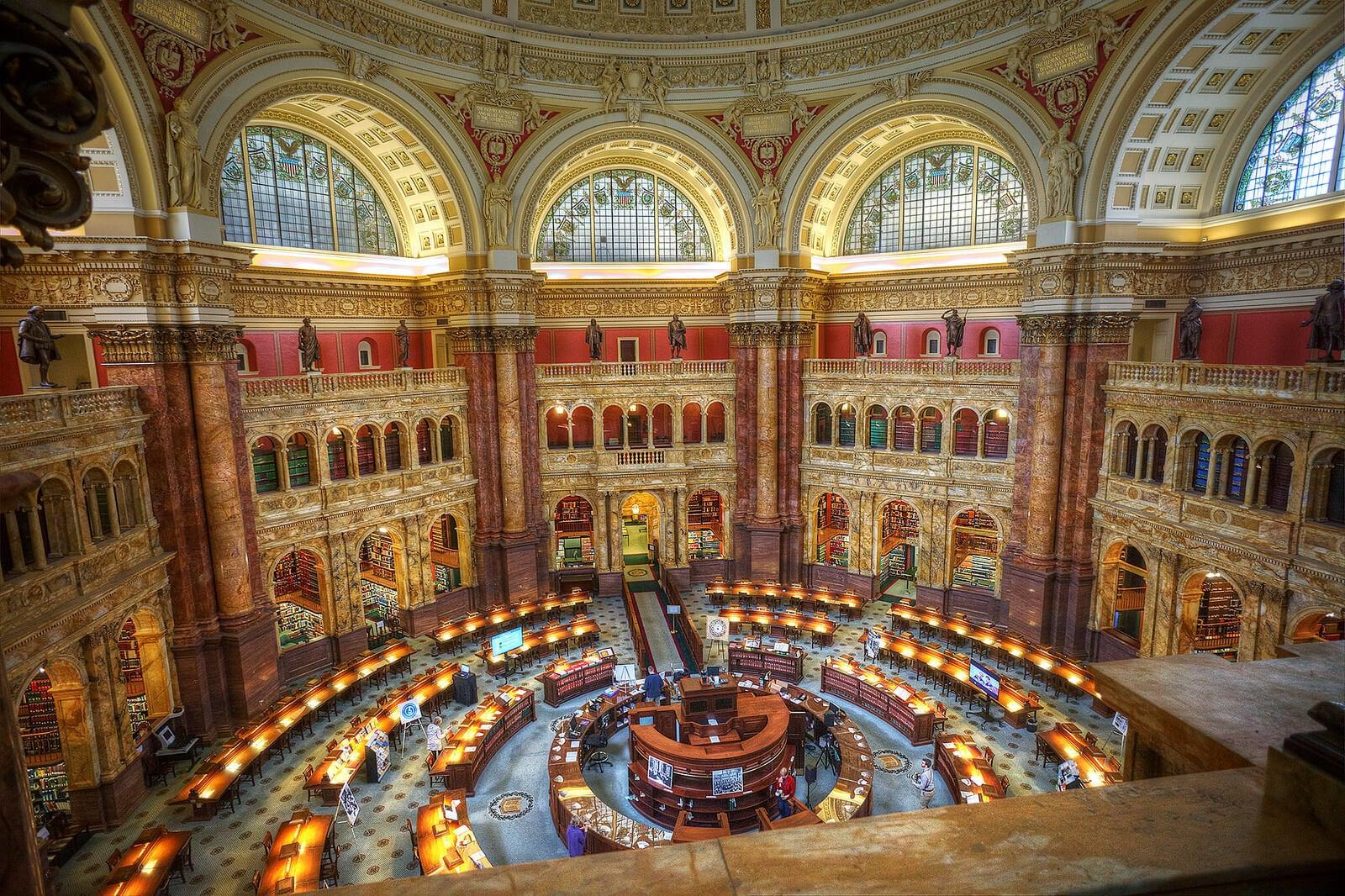 Sala de lectura de la Biblioteca del Congreso