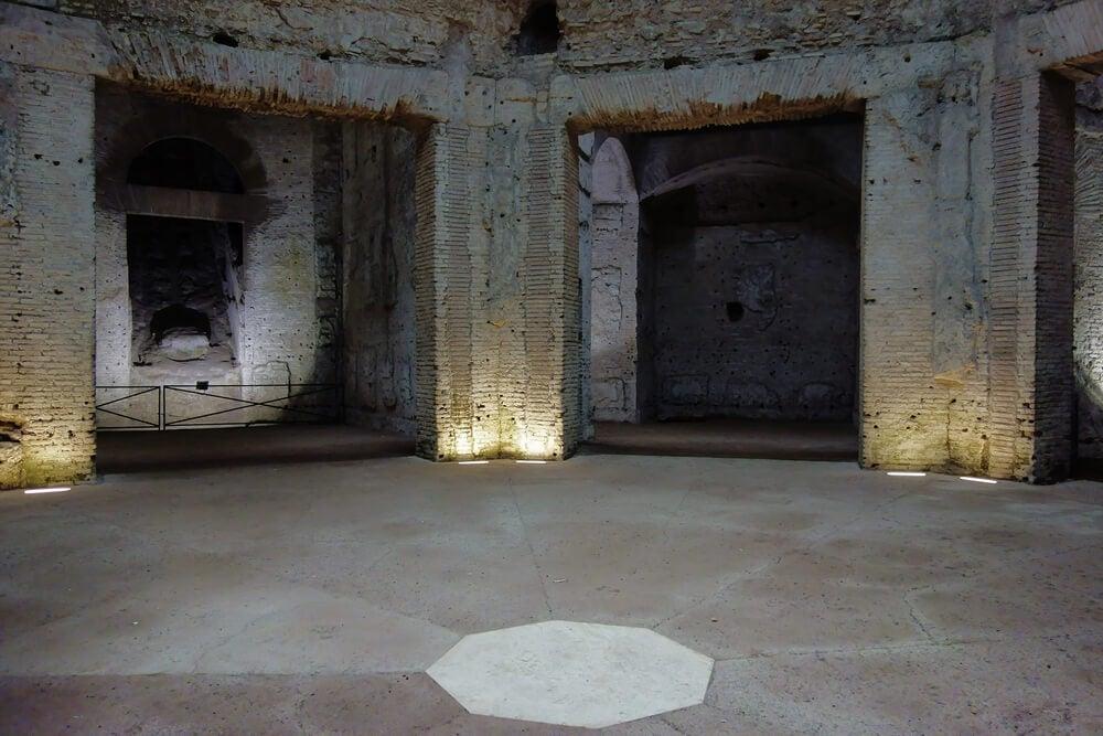 Sala octogonal del palacio de Nerón