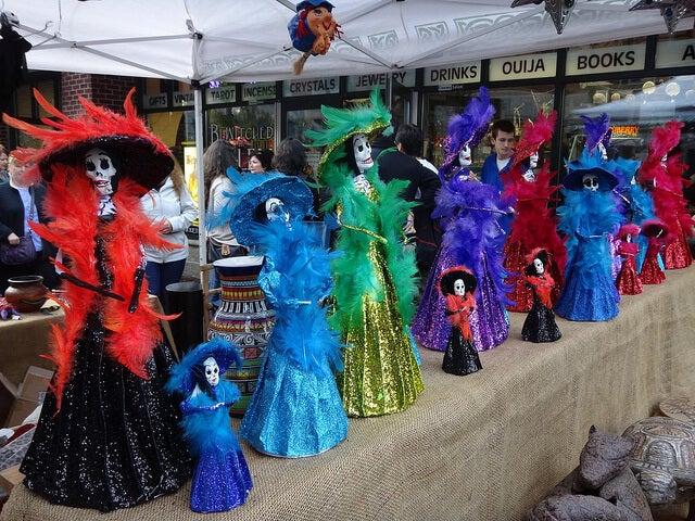 Calle de Salem en Halloween