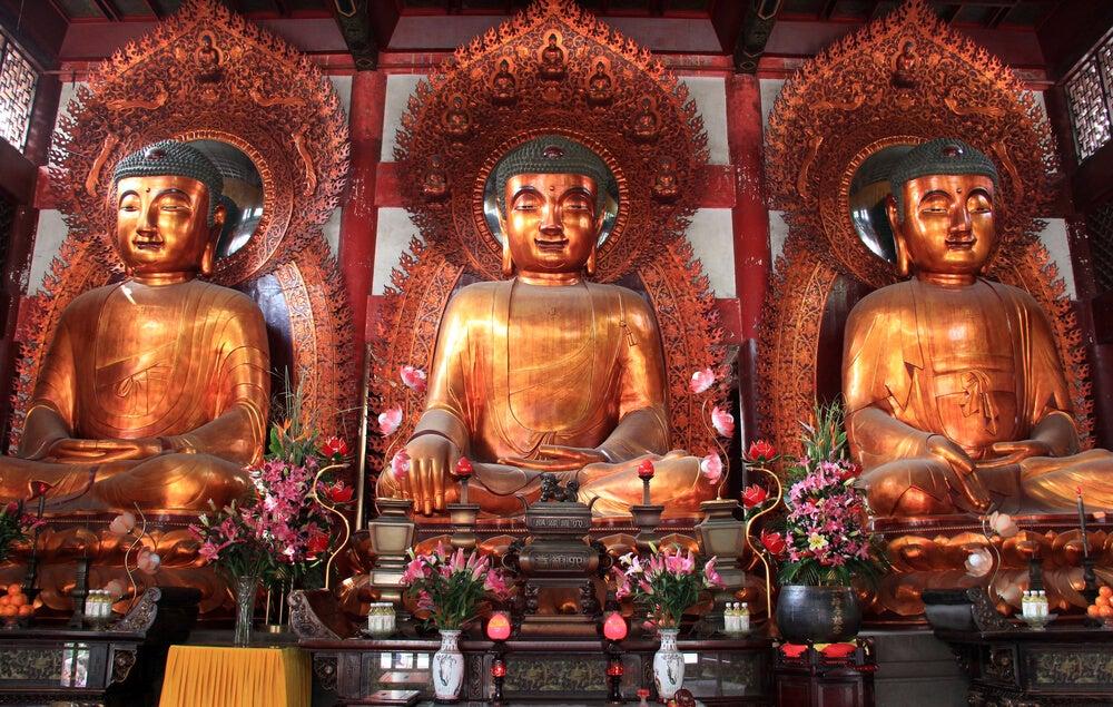 Budas en el Six Banian Temple de Guangzhou