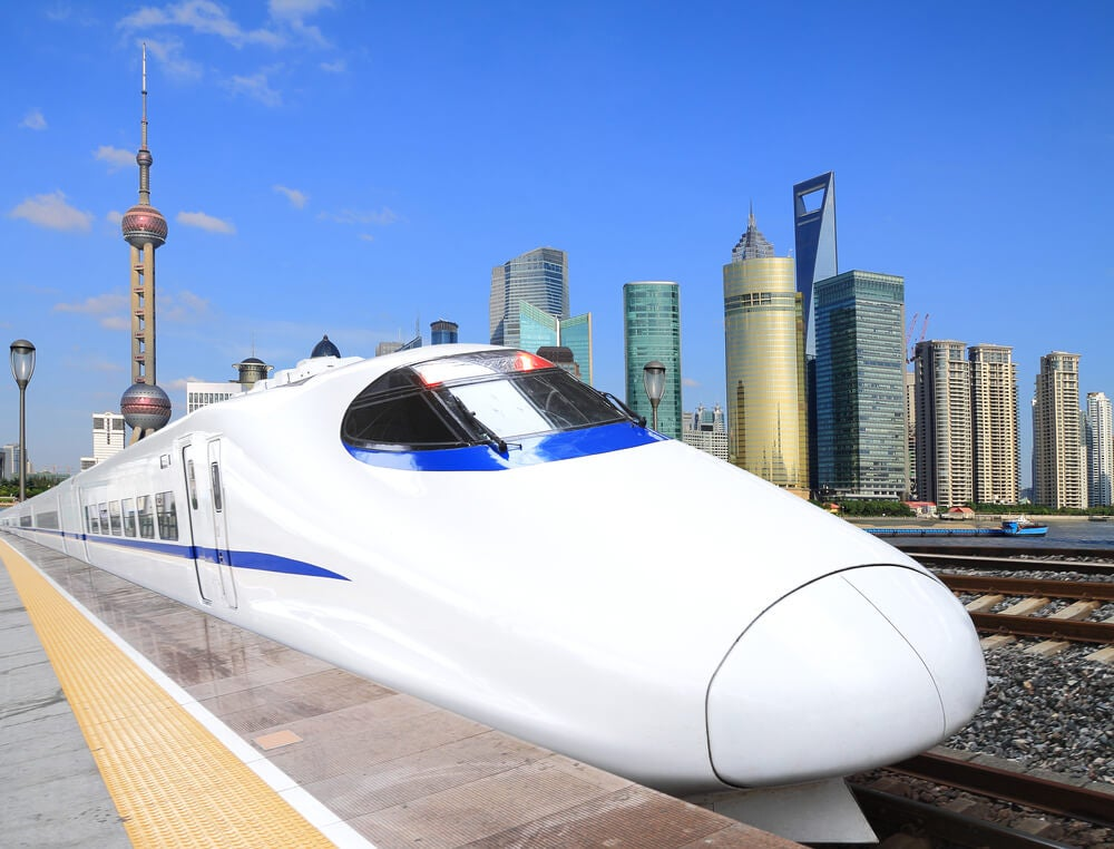 Tren de alta velocidad en Shangai