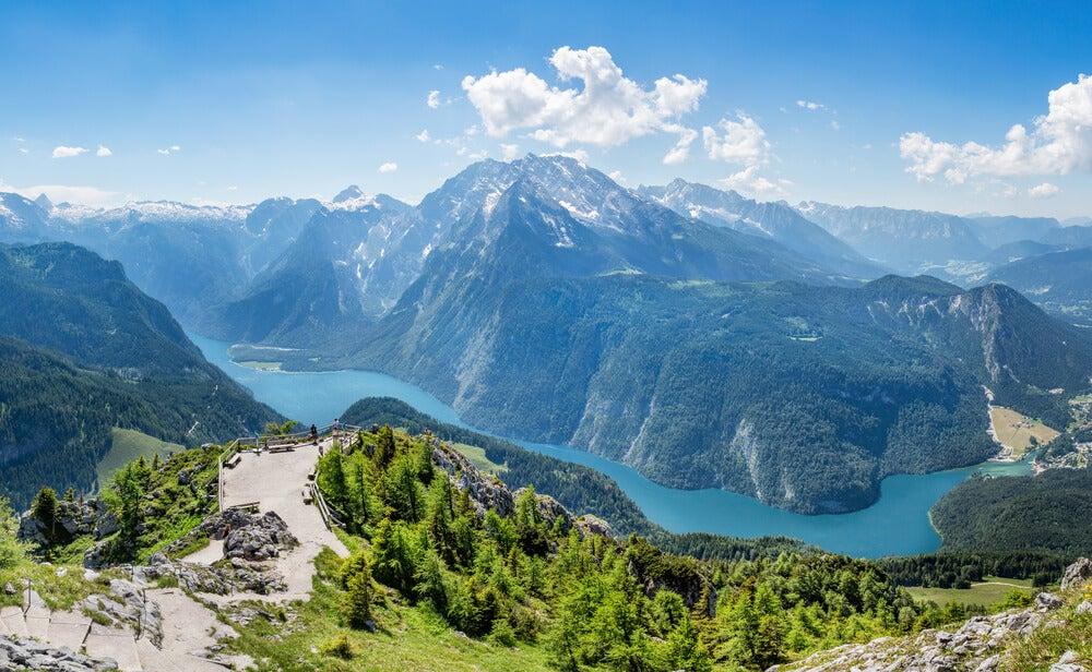 Vista desde el monte Jenner en Berchtesgaden