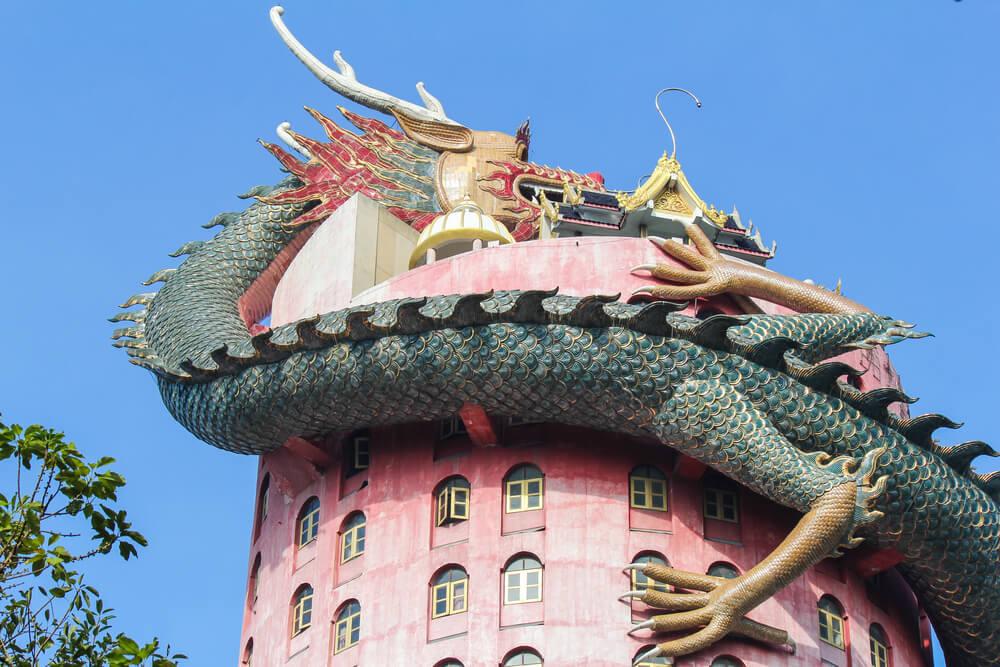 Templo Wat Samphram en Tailandia
