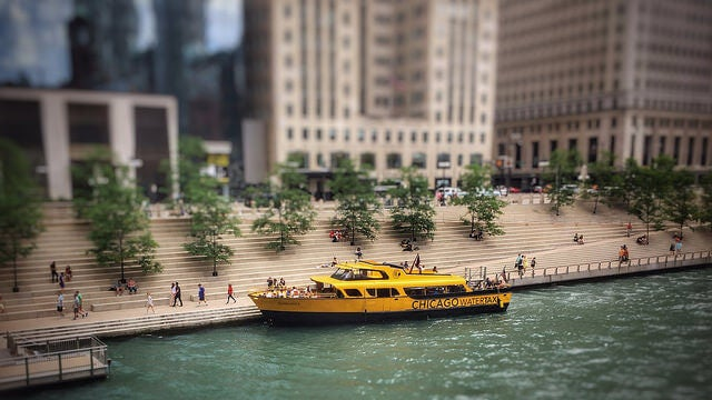 Water taxi en Chicago