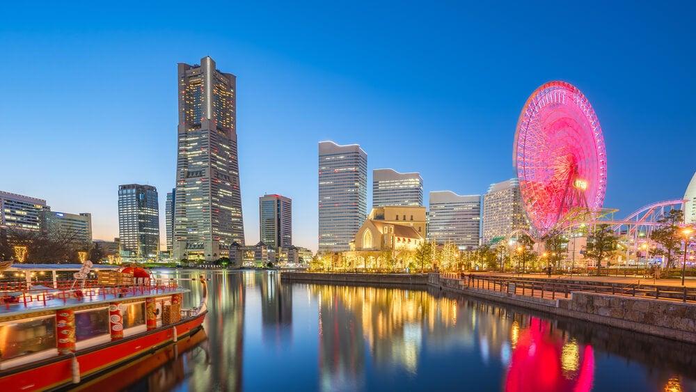 Vista de Yokohama en Japón