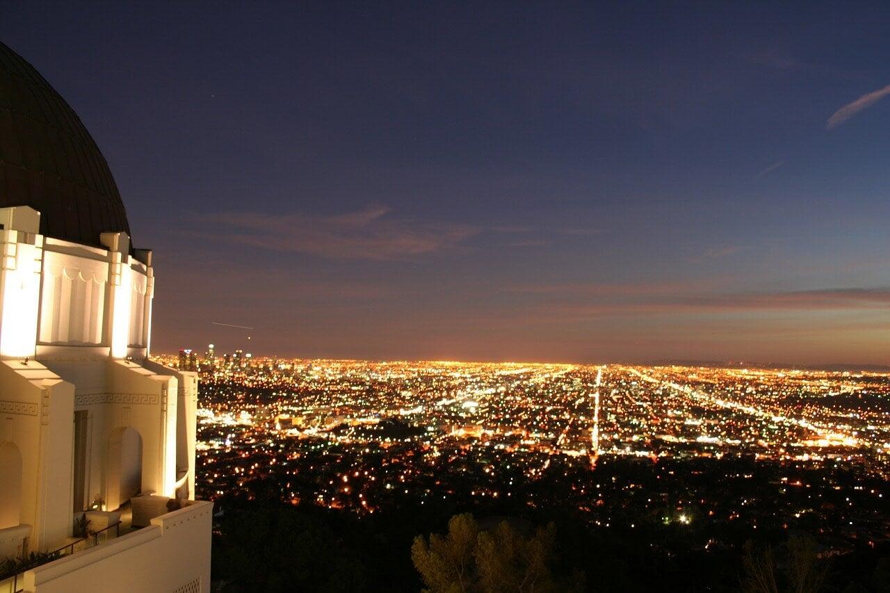 Atardecer desde el Observatorio Griffith