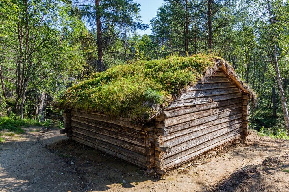 Casa tradicional sami en Laponia