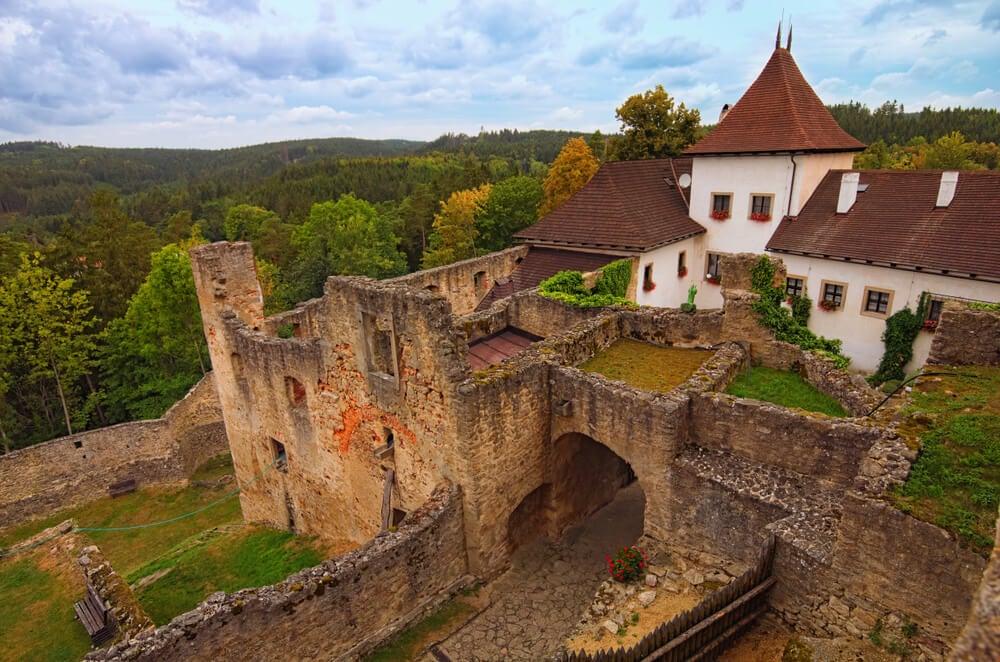 Castillo de Landstejn en la República Checa