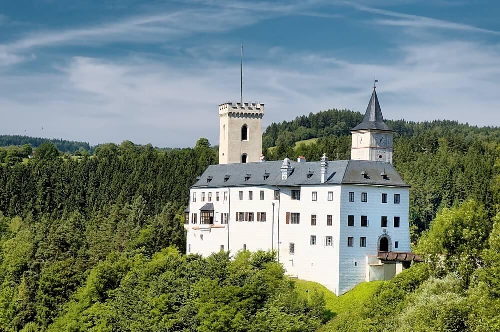 Castillo de Rozmberk en la República Checa