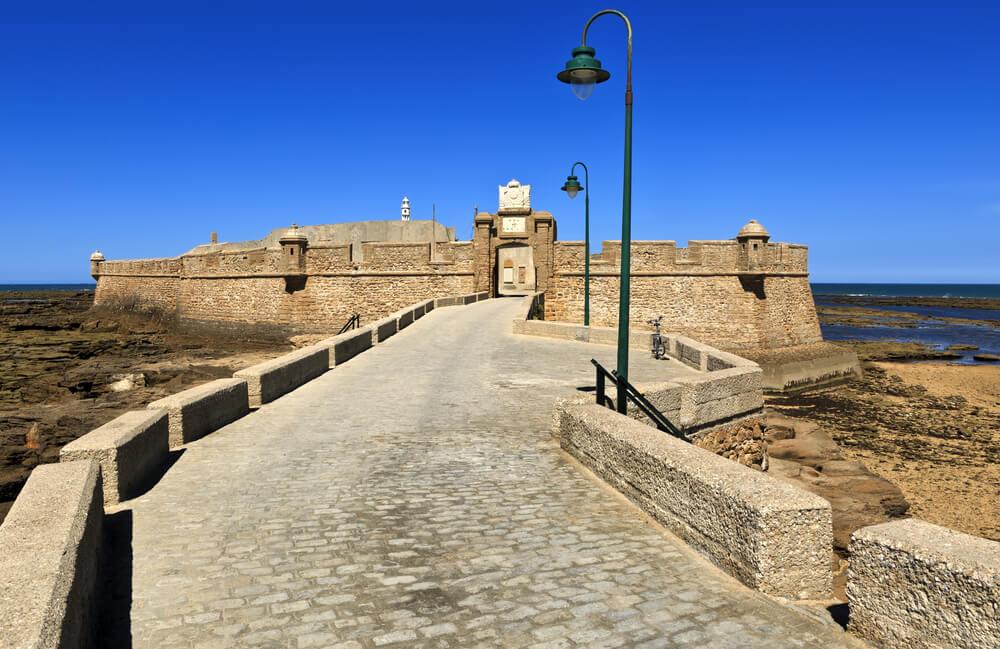 Castillo de San Sebastián en Cádiz