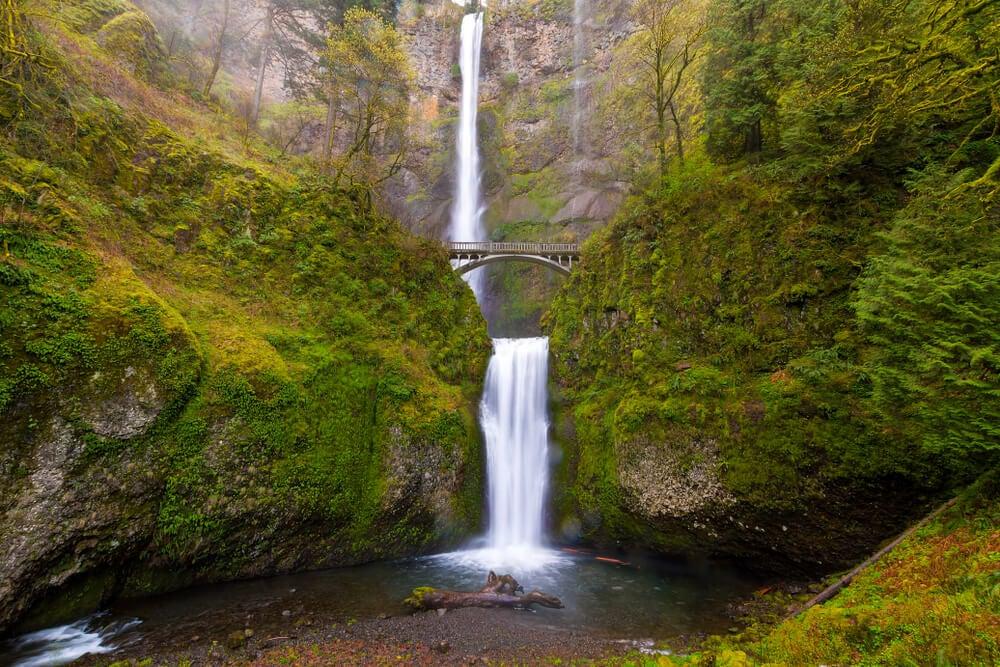 Las cataratas Multnomah, las más altas de Oregon