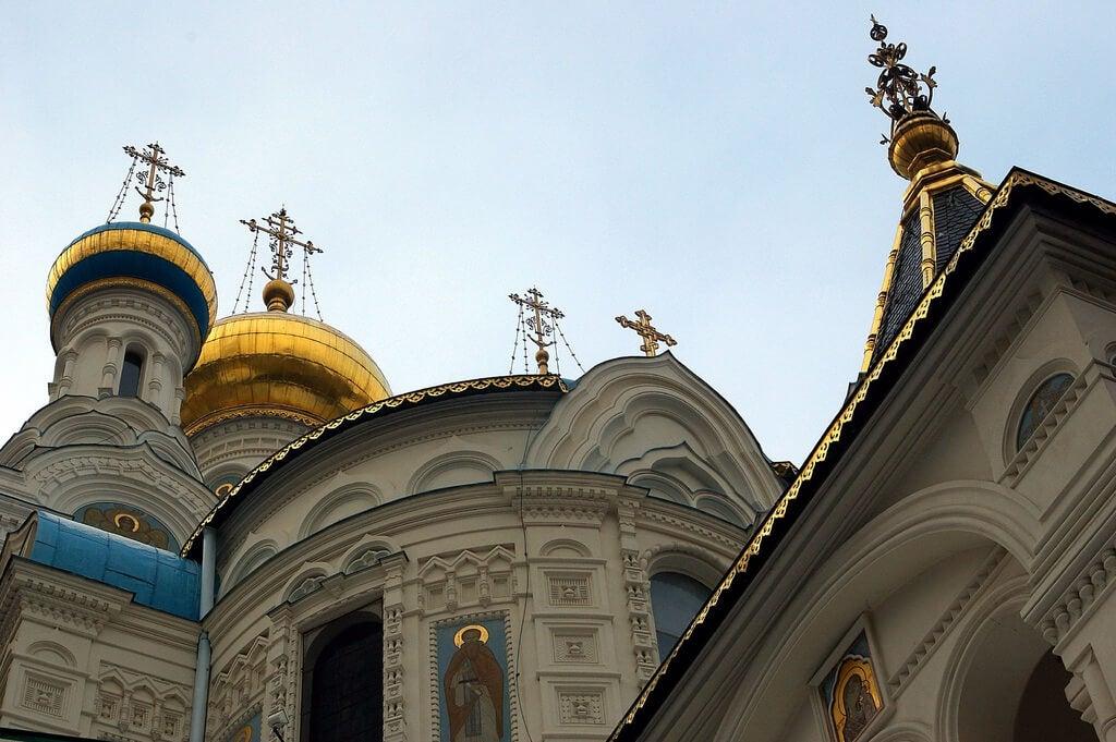 Cúpulas de la iglesia ortodoxa de Karlovy Vary