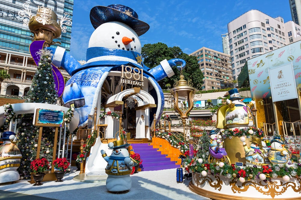 Decoración de Navidad en Hong Kong