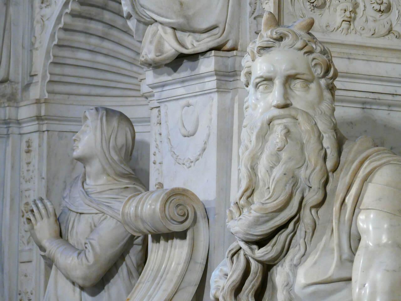 Detalle del Moisés de Miguel Ángel